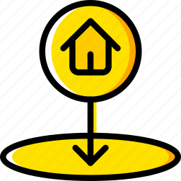 home, location, map, navigation, pin icon