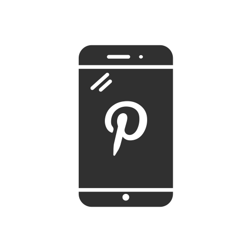 iphone, phone, pinterest, pinterest logo icon