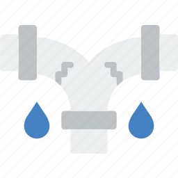 flow, leaky, pipe, water icon