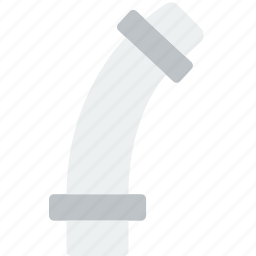 curved, flow, pipe, water icon