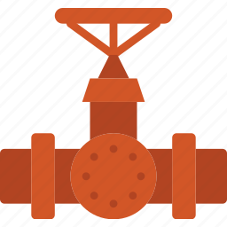 flow, valve, water icon