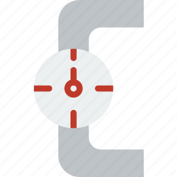 flow, manometer, water icon