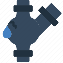 extention, flow, leaky, pipe, water icon