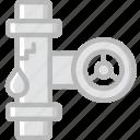 flow, leaky, pipe, water