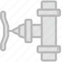 flow, valve, water icon
