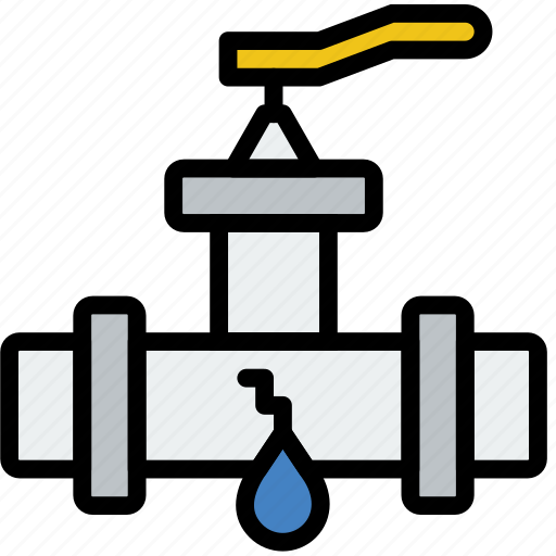 flow, leaky, valve, water icon