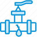 flow, leaky, valve, water icon