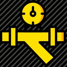 flow, manometer, water icon