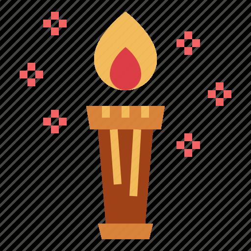 fire, greece, mythology, torch icon