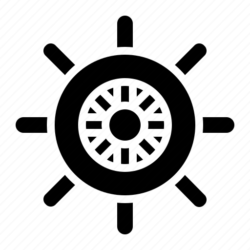 boat, helm, sailor, ship icon