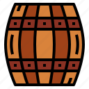 barrel, beer, pirate, water icon