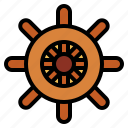 boat, helm, sailor, ship icon
