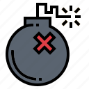 bomb, shoot, war, weapon icon