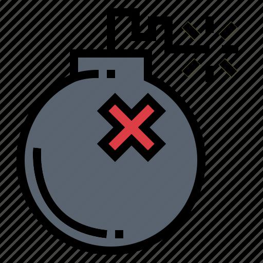bomb, shoot, war, weapon icon