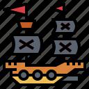 captain, pirate, ship, transport