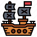 frigate, pirate, ship, shipping, transport