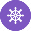 boat, drawn, hand, helm, sailboat, steering, wheel icon