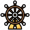 helm, boat, tools, utensils, transportation, navigation, sailing