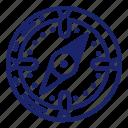 compass, navigation, pirate, set icon