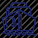 boat, pirate, sail, sea, set, ship icon