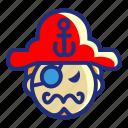 piracy, set, pirate, sea, man