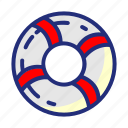 lifebuoy, lifeguard, pirate, rescure, sea, set icon