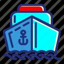 sea, pirate, set, boat, ship
