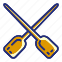 paddle, pirate, set, boat, ship icon