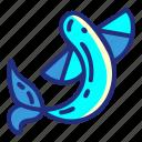 fish, set, flyingfish, animal, pirate