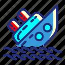 drowningship, pirate, sea, set, ship icon