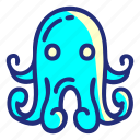 pirate, octopus, set, animal, seacreature icon