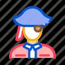 pirate, sea, ship, silhouette