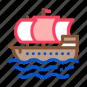 boat, nautical, pirate, sea, ship icon