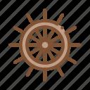 nautical, ship, silhouette, wheel