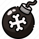 bomb, detonation, explosive, game, security, weapons icon