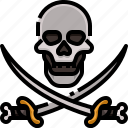 blade, knife, pirates, roger, skull, sword, weapon icon