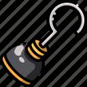 bandit, hook, pirate, weapon