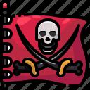 flag, pirate, pirates