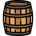 alcohol, barrel, beer, bucket, cask, pub, water icon