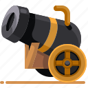 ancient, cannon, old, weaponmedieval icon