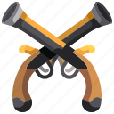 army, gun, hand, pirate, war, weapon icon