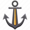 anchor, navigation, navy, sail icon
