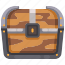 box, chest, furniture, gold, money, pirate, treasure icon