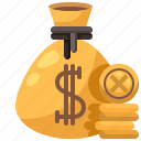 bag, budget, coin, coins, money icon