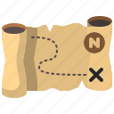 direction, map, orientation, treasure