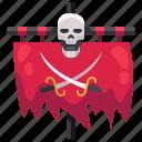 bones, flag, pirate, pirates