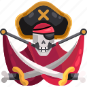 bones, flag, pirate, pirates icon