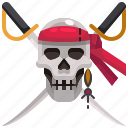 pirate, pirates, roger, skull, sword, weapon icon