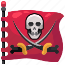 flag, pirate, pirates icon