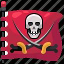 pirates, flag, pirate